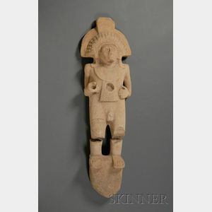 Pre-Columbian Carved Limestone Figure