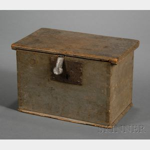 Small Blue-gray Painted Pine Box