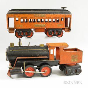 Keystone Mfg. Co. Steel Locomotive and Pullman Car
