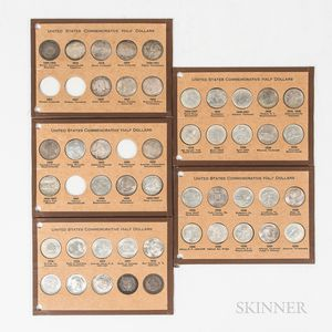 Forty-six Commemorative Half Dollars