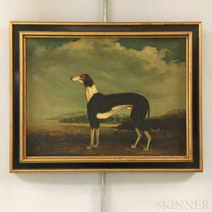Two Framed Oil on Board Pastiches of Hounds