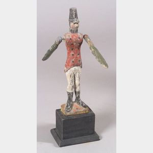 Carved and Painted Wooden Soldier Whirligig