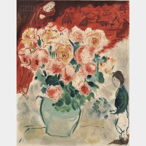 After Marc Chagall (French/Russian, 1887-1985)      Le Bouquet