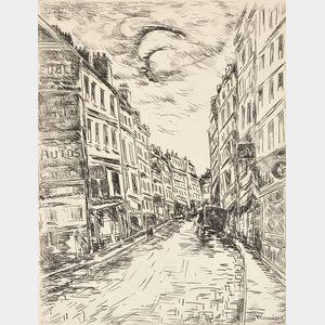 Maurice de Vlaminck (French, 1876-1958)      La Rue de la Glacière