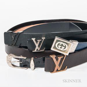 Five Men's Designer Belts