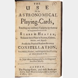 Moxon, Joseph (1627-1691) The Use of Astronomical Playing Cards.
