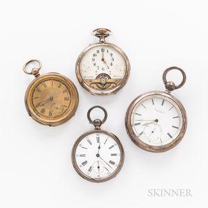 Four European Open-face Watches