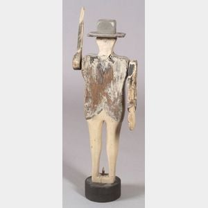 Carved and Painted Wooden Gentleman Whirligig