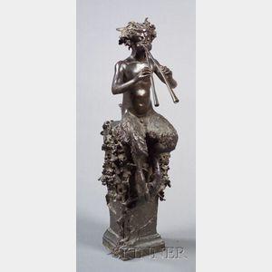 Continental Bronze Figure of Pan