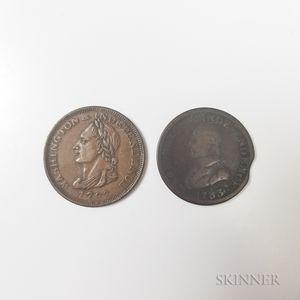 Two 1783 Washington Cents