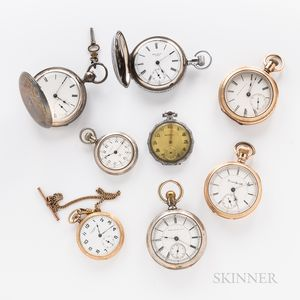 Eight American Open-face and Hunter-case Watches