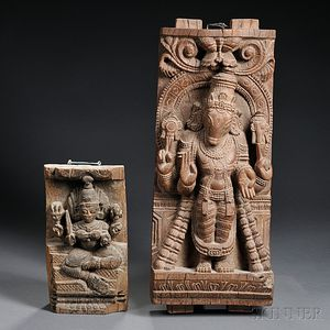 Two Architectural Wood Carvings