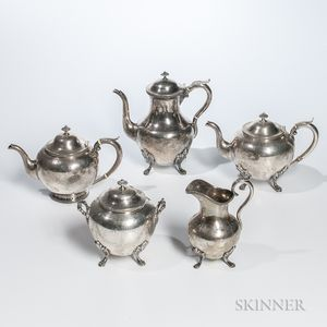 Five-piece Coin Silver Tea/Coffee Service