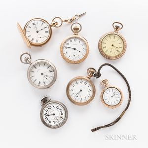 Seven American Waltham Watch Co. Watches.