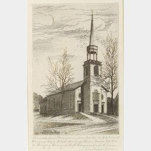 John Taylor Arms (American, 1887-1953)  Greenfield Hill Congregational Church (Sketch)