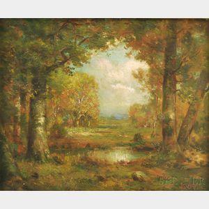 Richard Creifelds (American, 1853-1939)      Autumn Landscape.