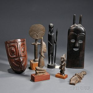 Seven Ethnic Wood Carvings