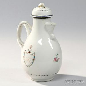 Pear-shaped Export Porcelain Coffeepot