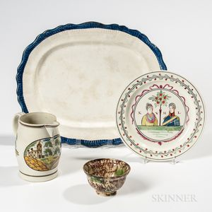 Four English Pottery Table Items
