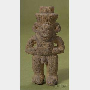 Pre-Columbian Volcanic Stone Figure