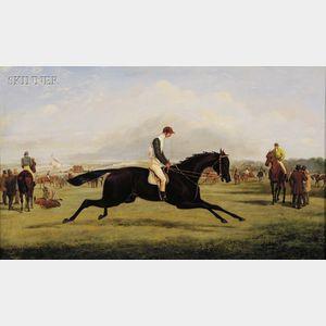 Attributed to Samuel Henry Alken [called Henry Alken, Jr.] (British, 1810-1894)      Wild Dayrell, Winner of the Derby