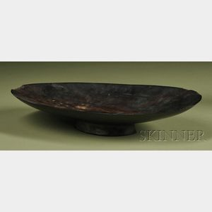 Polynesian Carved Wood Oil Dish