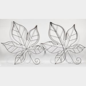 Two Maple Leaf Wall Sculptures