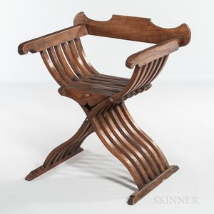 Walnut Savonarola Chair