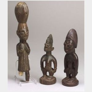 Three African Carved Wood Figures