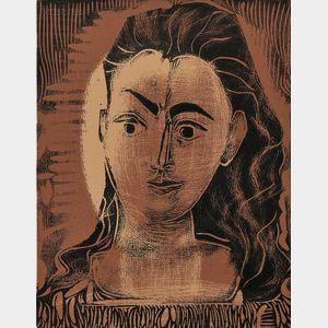 Pablo Picasso (Spanish, 1881-1973)      Petit buste de femme
