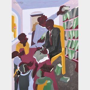 Jacob Armstead Lawrence (American, 1917-2000)      Lawyers and Clients