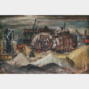 Hermann Pieper (Swiss, 1909-1964)      Industrial Scene.