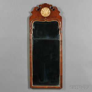 Queen Anne Walnut and Parcel-gilt Mirror