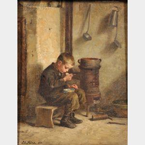 Pierre Édouard Frère (French, 1819-1886)      A Pot of Porridge