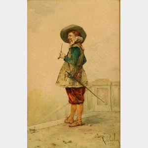 Louis Robert de Cuvillon (French, 1848-1931)    Portrait of a Cavalier