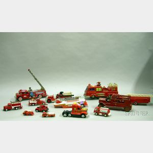 Approximately Thirty-four Assorted Toy Fire Engines.
