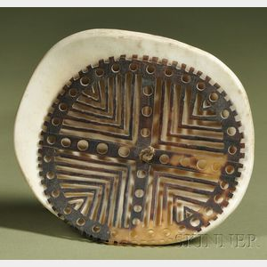 New Guinea Carved Shell Ornament