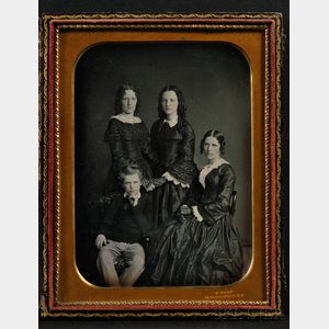 Half Plate Daguerreotype Family Portrait