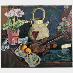 James Lesesne Wells (American, 1902-1993)      Still Life with Violin