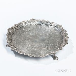 George II Irish Silver Card Tray