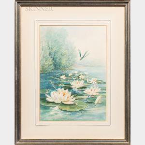 Emily Selinger (American, 1848-1927)      Waterlilies