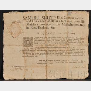 (Colonial Massachusetts), Shute, Samuel (1662-1742)