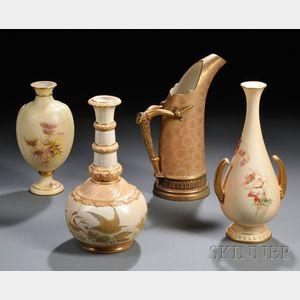 Four Worcester Porcelain Items