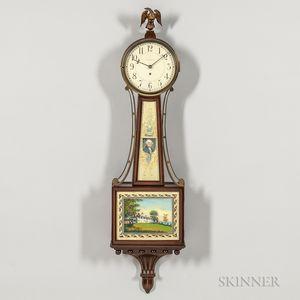 """Mahogany Waltham """"Banjo"""" Clock"""