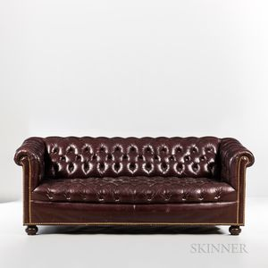 """Tufted Leather """"Chesterfield"""" Sofa."""