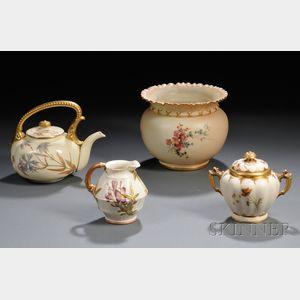 Four Royal Worcester Porcelain Items