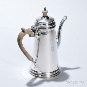 George V Sterling Silver Coffeepot