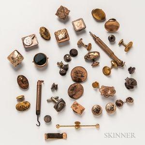 Group of Gold-filled Gentlemen's Accessories