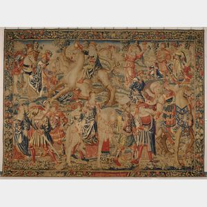 Sold for: $237,000 - Fine Flemish Wool Tapestry