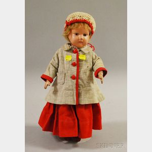 Schoenhut Doll with Molded Teeth